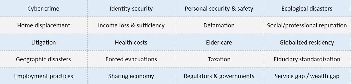 risk list table